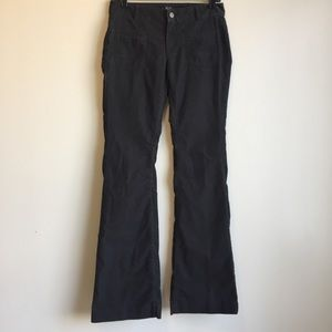Ann Taylor Loft modern flare grey corduroy pants